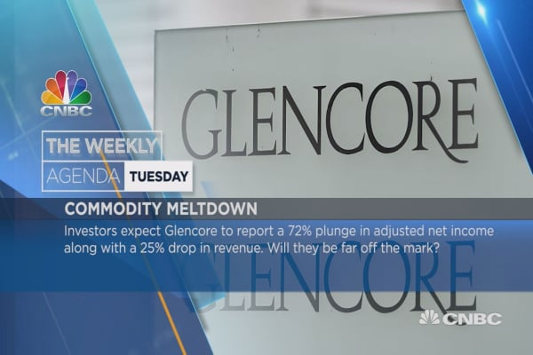 Weekly agenda earnings: Glencore, Barclays, Virgin Money