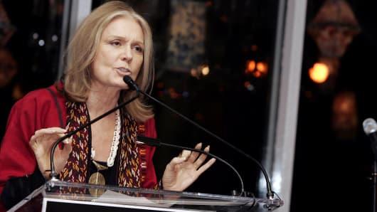 American journalist, activist and feminist Gloria Steinem
