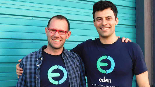 Eden co-founders Kyle Wilkinson, CTO, left, and Joe Du Bey, CEO.