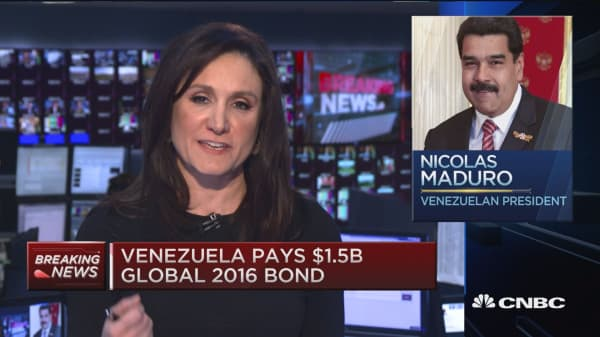 Default watch on Venezuela