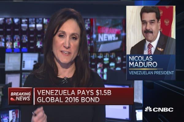 Default watch on Venezuela