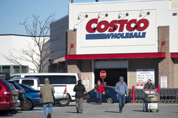 A Costco Wholesale warehouse location in Woodbridge, Virginia.