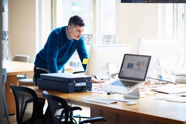 Small business entrepreneur worried