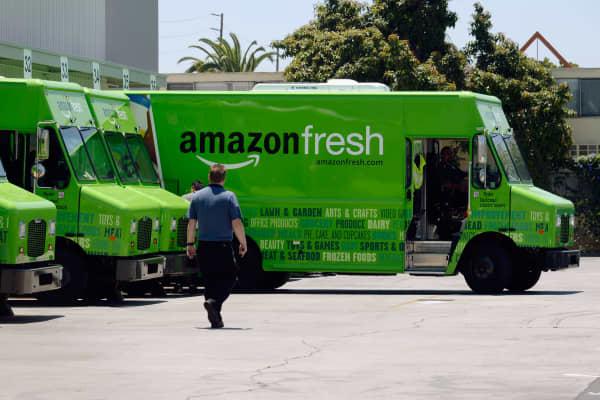 Amazon Fresh trucks