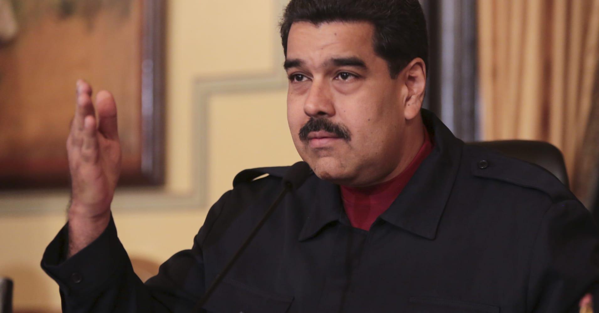 Treasury Sanctions Venezuelan President Nicolas Maduro