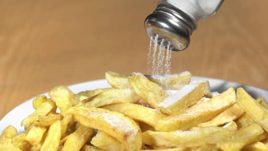 Salt on french fries