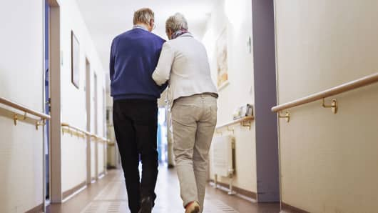 Senior couple long term care