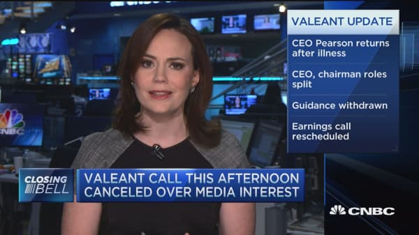 Latest Valeant news causes a tumble