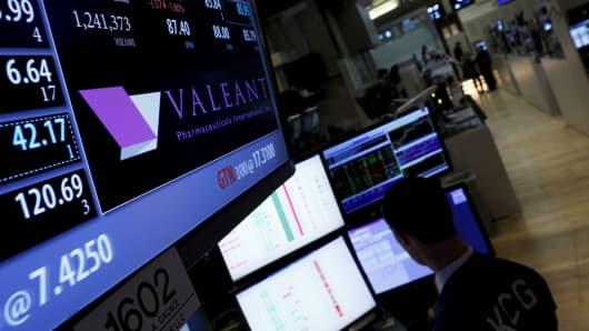 Valeant in the New York Stock Exchange