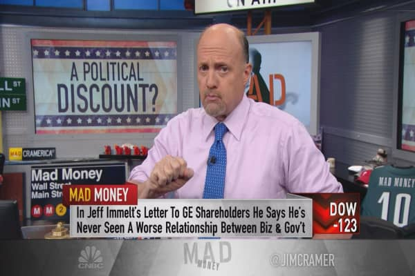 Cramer: Angry politics are hurting this market