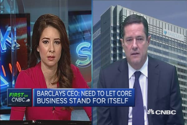 Barclay's is comfortable with energy exposure: CEO