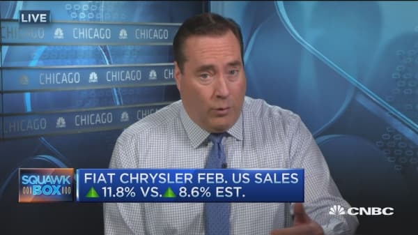Fiat Chrysler sales up 11.8% in February