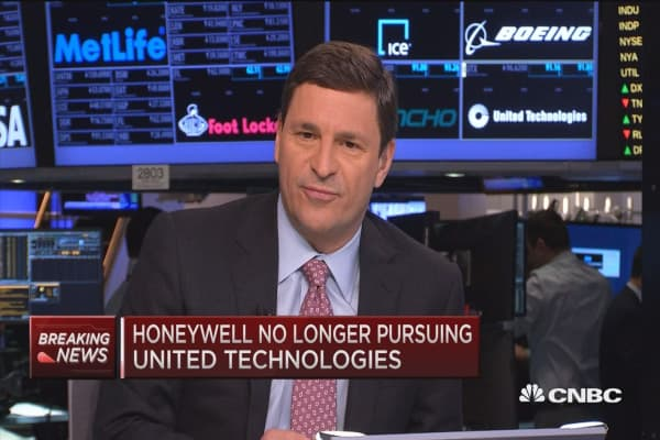 Honeywell drops bid for United Technologies