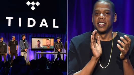 The Tidal launch event and Jay Z