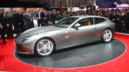 Ferrari unveiled a four-seat coup, the Ferrari GTC4Lusso, priced at an estimated $300-thousand. The vehicle will be available in the US beginning in the 4th Quarter.