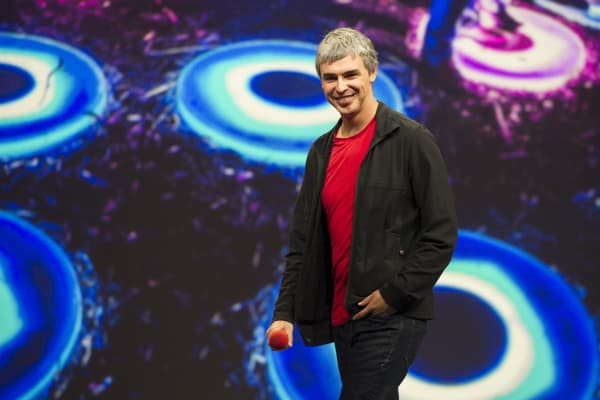 Caption:Larry Page, co-founder and chief executive officer at Google Inc.