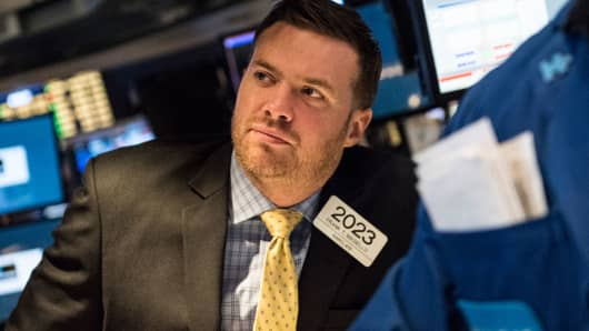 A trader on the floor of the New York Stock Exchange, March 1, 2016.