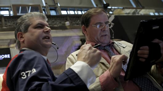 NYSE Traders on the floor.