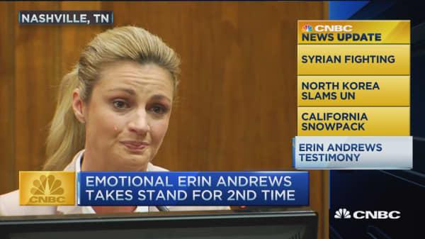 CNBC update: Erin Andrews testifies