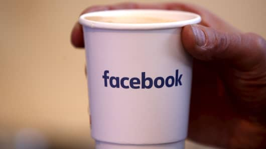 A coffee cup at a Facebook event