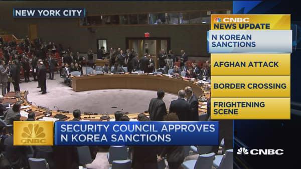 CNBC update: Security Council approves N Korea sanction