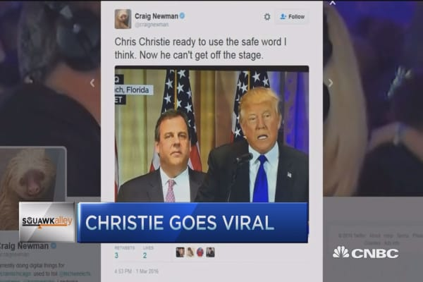 Christie goes viral
