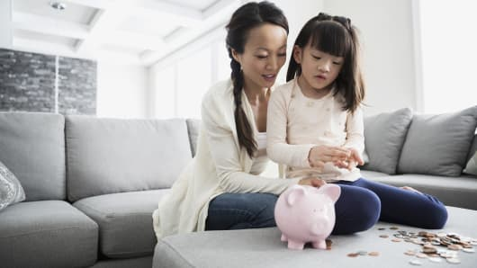 Parent teach kids financial responsibility