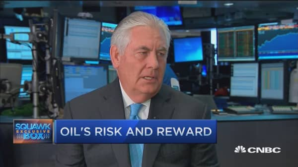 Exxon's Tillerson: Geopolitical risk a way of life