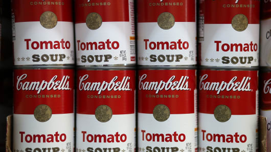 Cans of Campbell's Tomato Soup