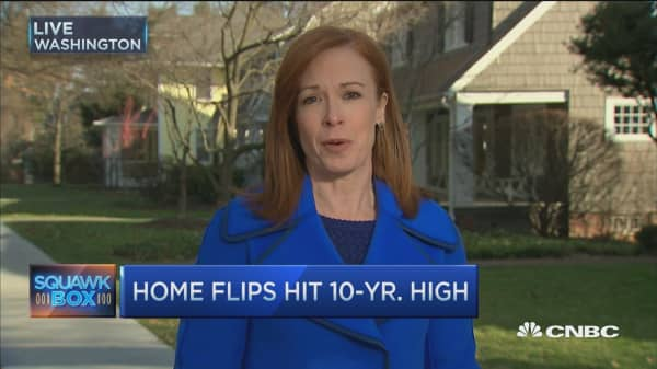 Home flips hit 10-year high