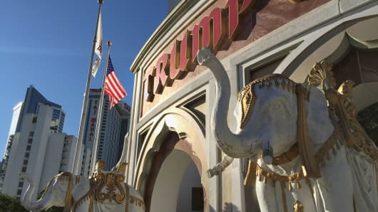 The Trump Taj Mahal casino in Atlantic City, New Jersey.
