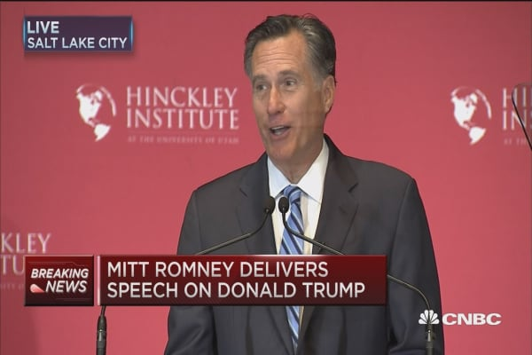Romney: Not here to endorse a candidate