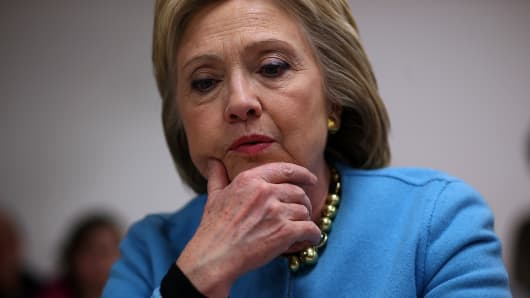 Democratic presidential candidate former Secretary of State Hillary Clinton