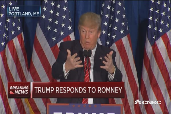 Trump: Romney begged, would have dropped to his knees for my endorsement
