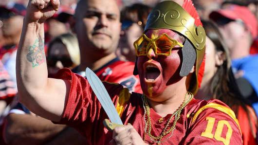 A USC Trojans fan