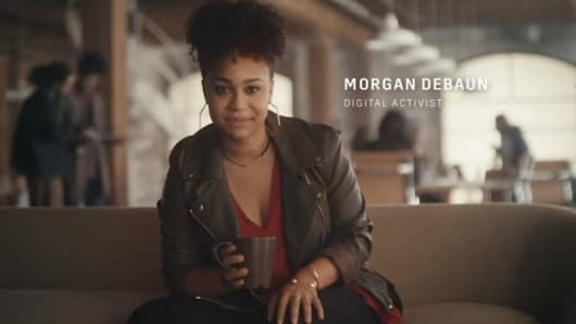 "Digital activist Morgan Debaun is one of Cadillac's new spokespeople in their ""Dare Greatly"" campaign."