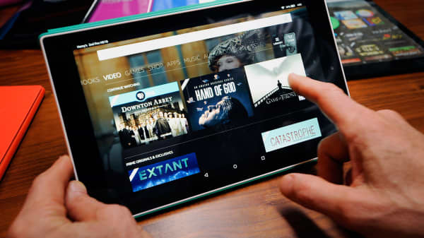 The Amazon Fire HD 10 tablet