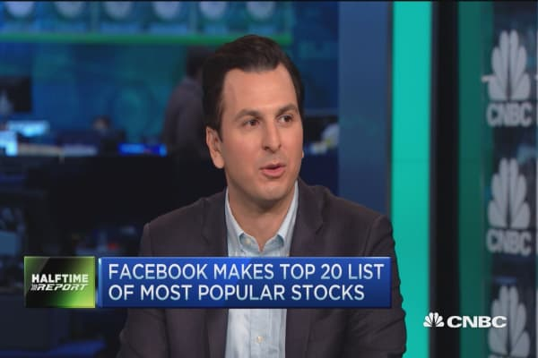 Facebook among most popular stocks