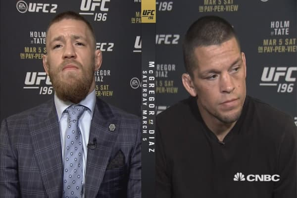 UFC's McGregor and Dias talk trash and money