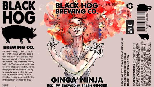 black hog brewing Ginga Ninja