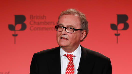 John Longworth, director general of the British Chambers of Commerce (BCC), speaks during the 2016 BCC annual conference in London, U.K., on Thursday, March 3, 2016.