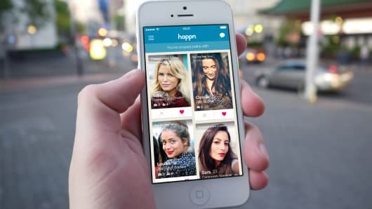 The Happn app in action