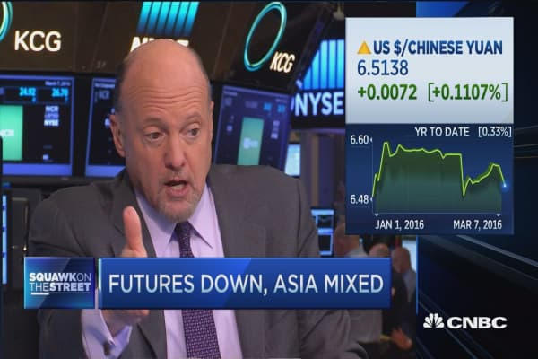 Cramer: If you want to buy stocks on weakness...