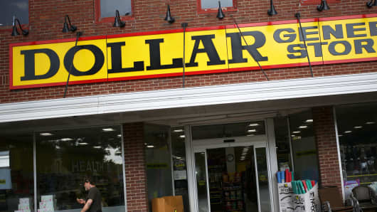 A Dollar General store in Scottsville, Kentucky.