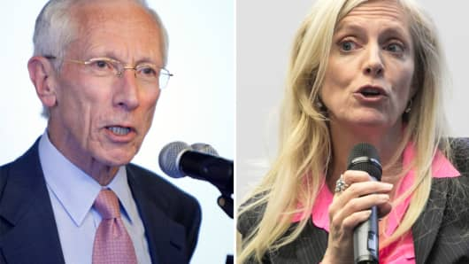 Federal Reseve's Stanley Fischer and Lael Brainard
