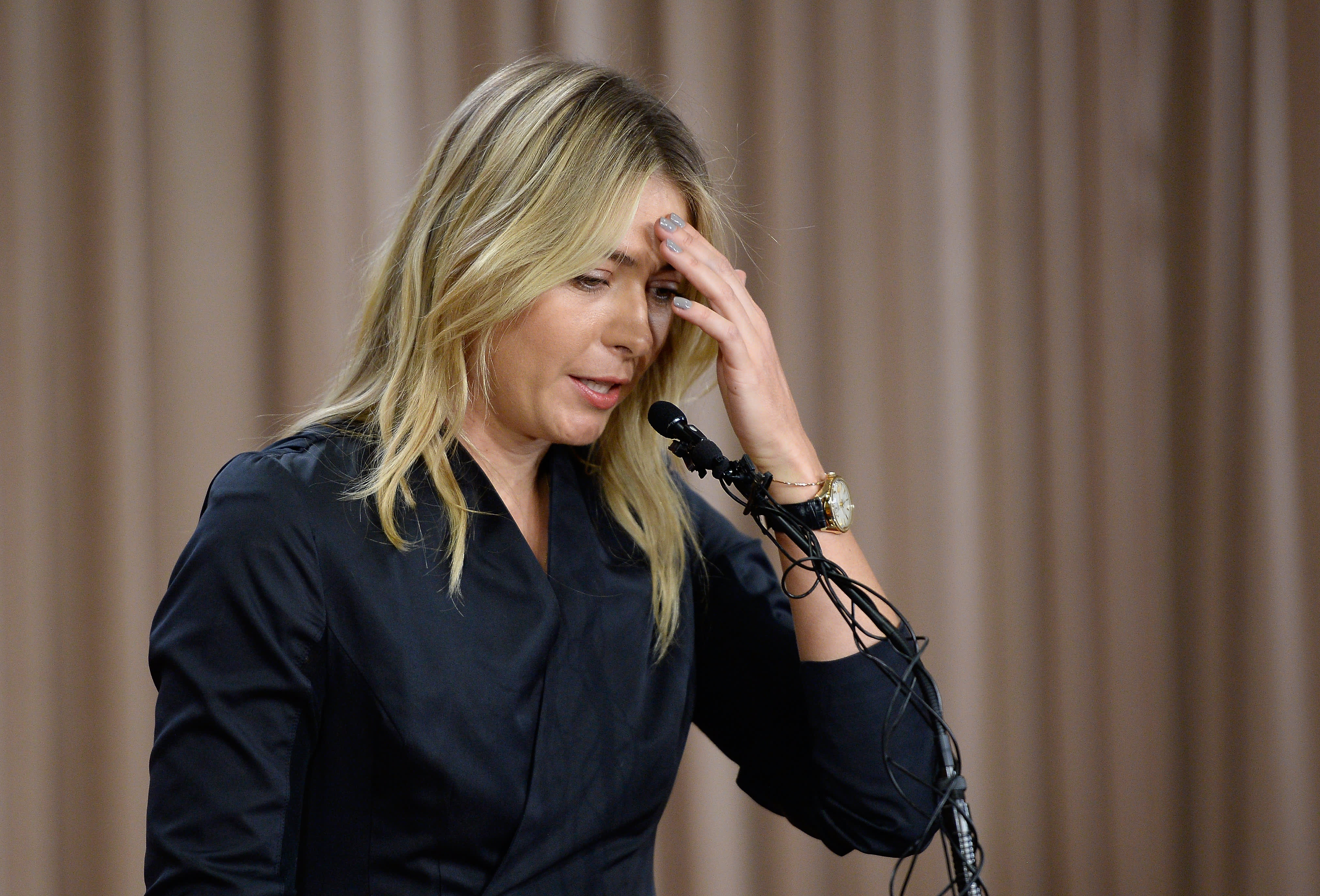 Maria Sharapova thanked the fans for the kind words 10.03.2016
