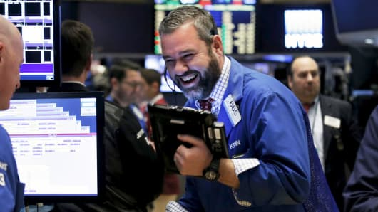 Wall St higher at the open; Dow hits record high