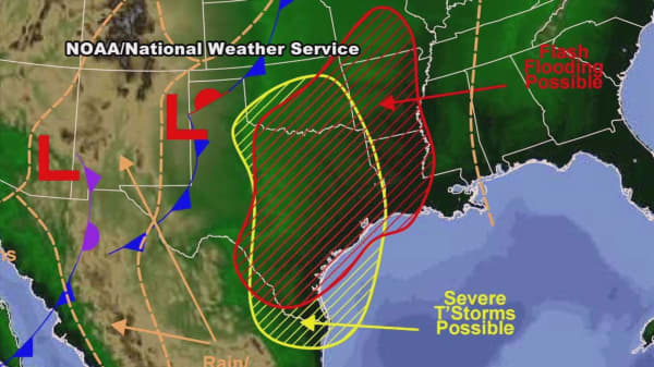 Possible tornadoes, large hail forecast in the south