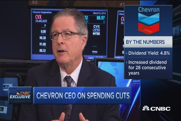 Chevron CEO at the NYSE