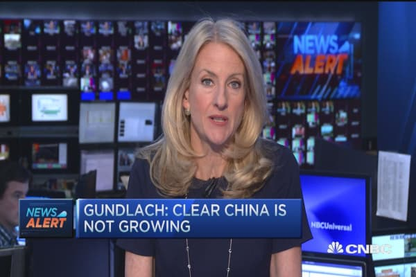 Gundlach: Clear China is not growing